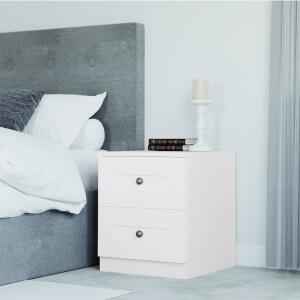 Modular Bedroom Shaker Bedside Chest - White