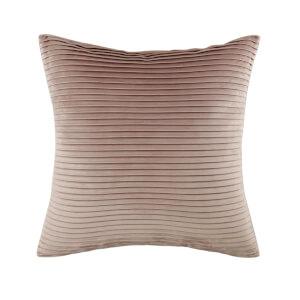 Folded Velvet Cushion - Blush