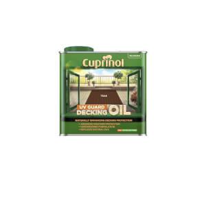 Cuprinol Uv Guard Decking Oil - Teak - 2.5L