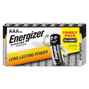 Energizer Alkaline Power AAA Batteries -16 Pack