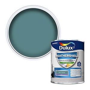 Dulux Weathershield Quick Dry Satin Paint - Teal Voyage - 750ml