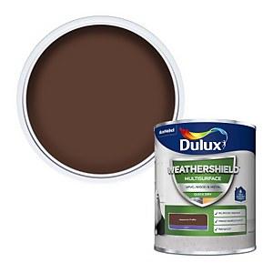Dulux Weathershield Multi Surface Paint - Hazelnut Truffle - 750ml