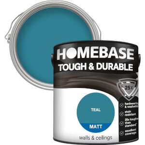 Homebase Tough & Durable Matt Paint - Teal 2.5L