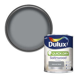 Dulux Quick Dry Satinwood Paint - Natural Slate - 750ml