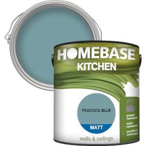 Homebase Kitchen Matt Paint - Peacock Blue 2.5L