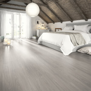 EGGER HOME Aqua+ Waterproof Grey Toscolano Oak 8mm Laminate Flooring