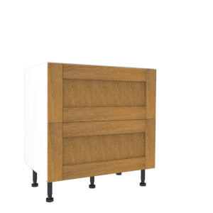Timber Shaker Oak 800mm Pan Drawer Premium Unit