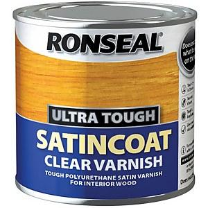 Ronseal UltraTough Satin Coat Clear Varnish - 250ml