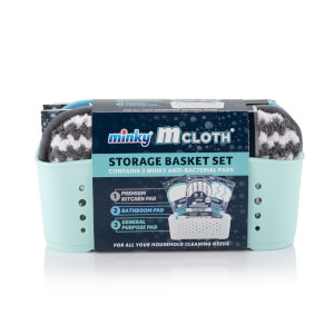 Green Cloth Storage Basket Set
