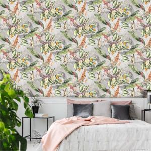 Belgravia Decor Animal Garden Grey Wallpaper