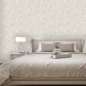 Belgravia Decor Amelie Beige Leaf Wallpaper