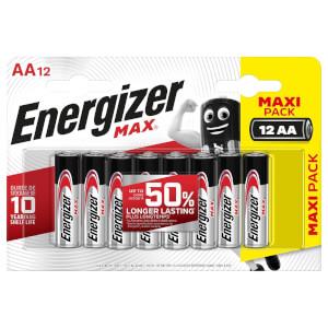 Energizer MAX Alkaline AA Batteries - 12 Pack