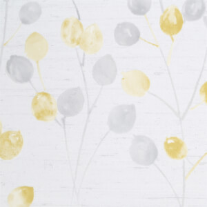 Fresco Honesty Wallpaper - Grey / Ochre