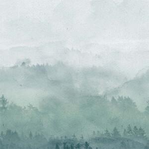 Grandeco Life Digital Mural Digi Landscape - Teal