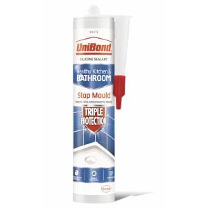 UniBond Sealant Triple Protection Cartridge White 291g