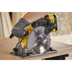 STANLEY FATMAX V20 18V Cordless Circular Saw with Kit Box (SFMCS500D1K-GB)