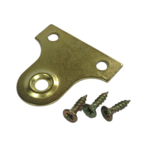 Brass Plate Picture Frame Bracket - 25mm - 2 Pack