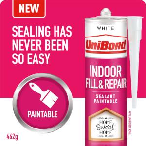 UniBond Indoor Fill & Repair Sealant White Cartridge 462g
