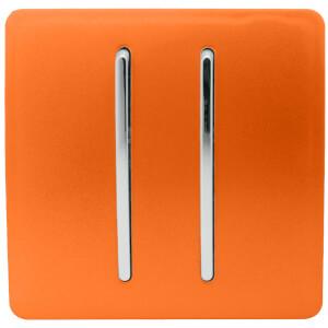 Trendi Switch 2 Gang 2 Way 10Amp Light Switch in Orange