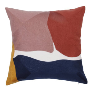 Abstract Cushion - Multi-coloured