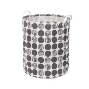 Canvas Storage Hamper - Dark Grey