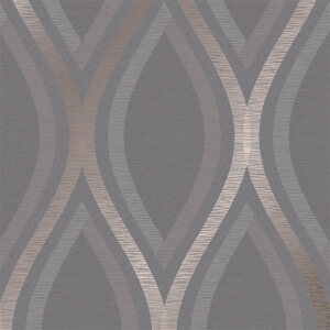 Grandeco Strata Charcoal Wallpaper