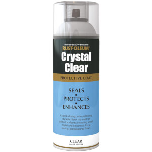 Rust-Oleum Matt Spray Paint - Crystal Clear - 400ml