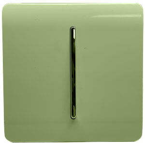 Trendi Switch 1 Gang 2 Way 10Amp Light Switch in Moss Green