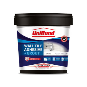 UniBond UltraForce Wall Tile Adhesive & Grout White 1.38kg