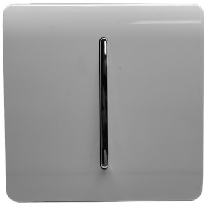 Trendi Switch 1 Gang 2 Way 10Amp Light Switch in Light Grey