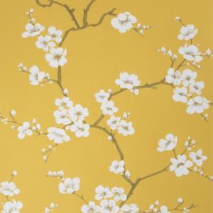 Fresco  Apple Blossom Ochre Wallpaper
