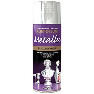 Rust-Oleum Metallic Brilliant Finish - Chrome Spray Paint - 400ml