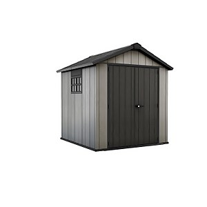 Keter Oakland Outdoor Garden Storage Shed 7.5x7ft Grey