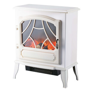Arlec 2000W Flame Effect Electric Stove Heater - White