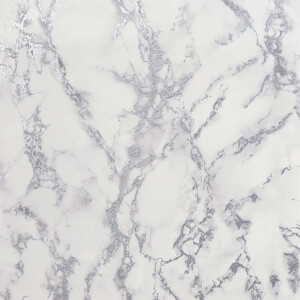 Arthouse Carrara Marble Silver Wallpaper