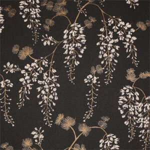 Arthouse Wisteria Floral Black Gold Wallpaper