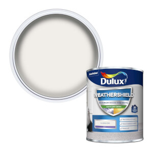 Dulux Weathershield Exterior Quick Dry Satin Paint - Pure Brilliant White - 750ml