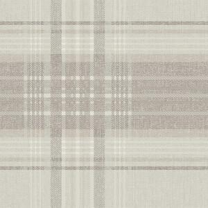 Superfresco Rhea Plaid Taupe Wallpaper