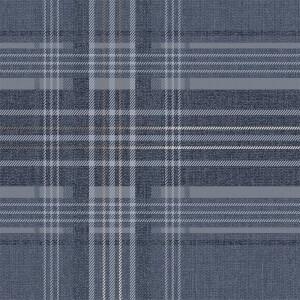 Supefresco Easy Rhea Plaid Navy Wallpaper