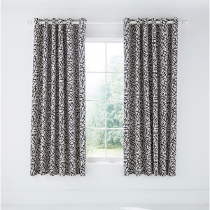 Anise Lined Curtains 66x72 Charcoal