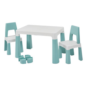 Forest Green Height Adjustable Table Set
