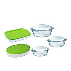 Pyrex 5 Piece Roaster & Casserole Dish Set