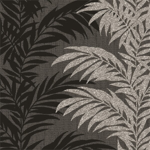 Belgravia Decor Aria Glitter Silver and Black Wallpaper
