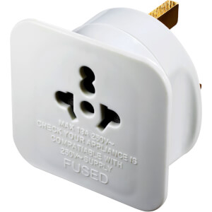 Masterplug Euro to UK Travel Adaptor White