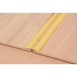 Cover Strip One Level Laminate & Vinyl Edge - Gold 900mm