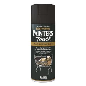 Rust-Oleum Satin Spray Paint - Black - 400ml