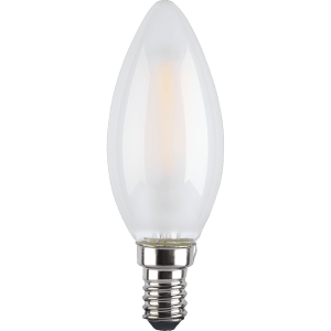TCP LED Filament Frosted Candle 4W E14 Light Bulb