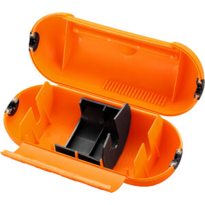 Masterplug Splashproof Housing Unit for Single Plug and Socket Orange