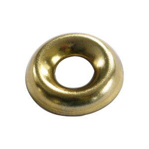 Screw Cup Washer - Brass Plated- 5mm - 20 Pack