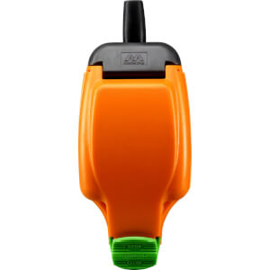 Masterplug Rewirable IP Rated Socket Orange